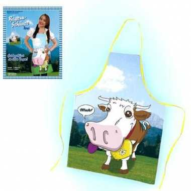 Oktoberfest keukenschort koe