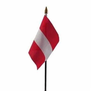Oostenrijk luxe zwaaivlaggetje polyester