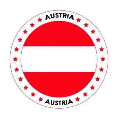 Oostenrijk vlag print bierviltjes