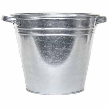 Opbergbak rvs emmer 28 liter