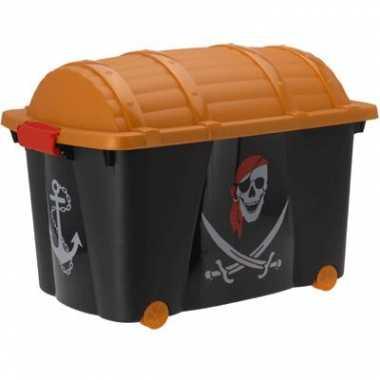 Opbergkist met piraten opdruk