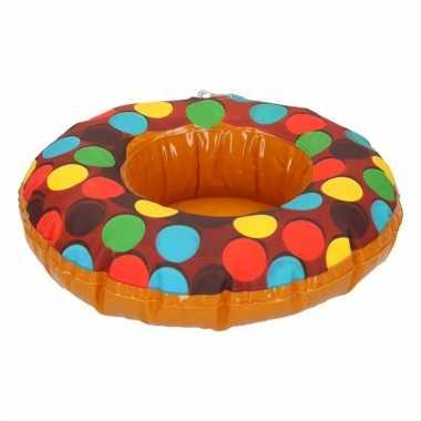 Opblaas donut beker houders bruin