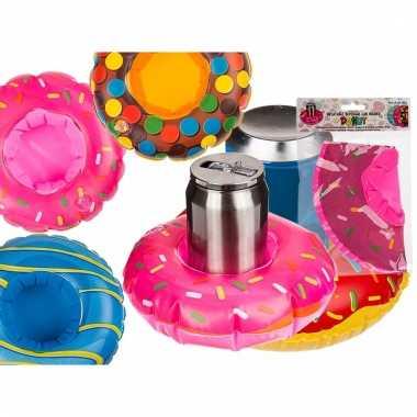 Opblaas donut beker houders roze