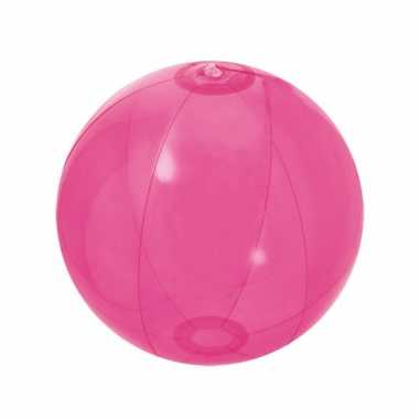 Opblaas strandbal fuchsia roze