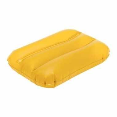 Opblaasbaar kussentje geel