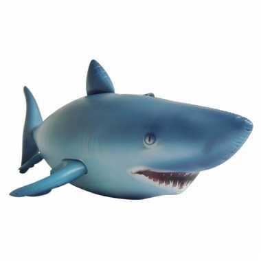 Opblaasbare blauwe haai 213 cm