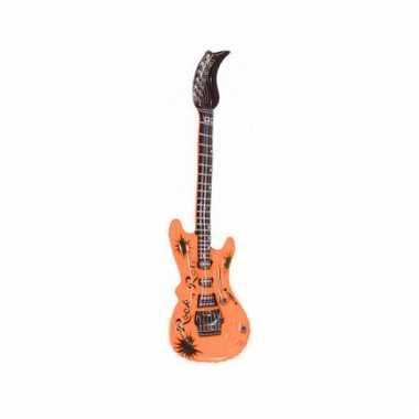 Opblaasbare elektrische gitaar oranje 55 cm