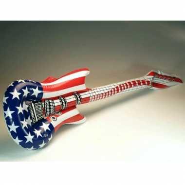 Opblaasbare gitaar met amerikaanse kleuren