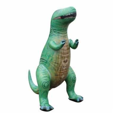 Opblaasbare groene t-rex 152 cm