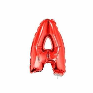 Opblaasbare letter a rood 41 cm