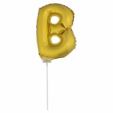 Opblaasbare letter b goud