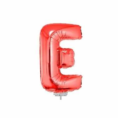 Opblaasbare letter e rood 41 cm