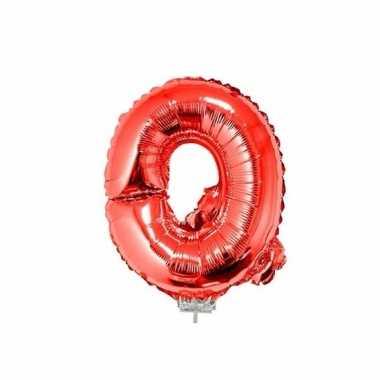 Opblaasbare letter q rood 41 cm