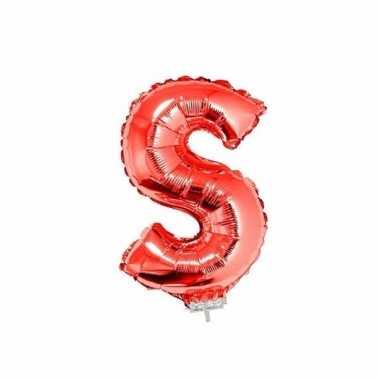 Opblaasbare letter s rood 41 cm