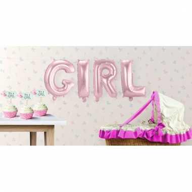 Opblaasbare letters girl its a girl versiering