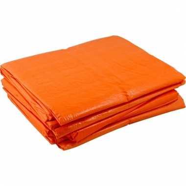 Oranje afdekzeilen 8x12 meter