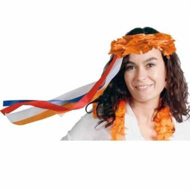 Oranje bloemen band voor om hoofd