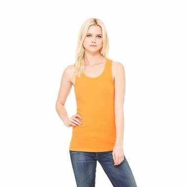 Oranje dames shirt zonder mouwen