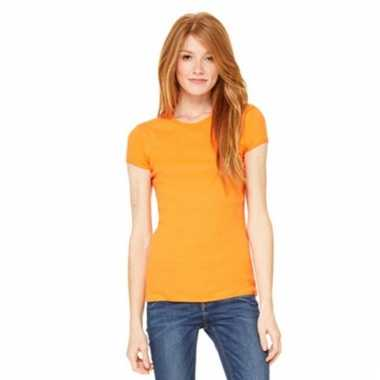 Oranje dames t-shirtjes hanna ronde hals