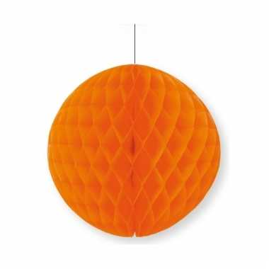 Oranje decoratie bal 10 cm halloween