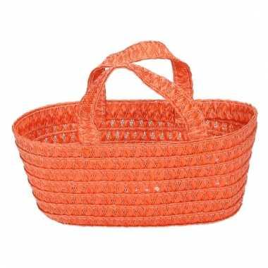 Oranje decoratie opberg mandje 24 cm