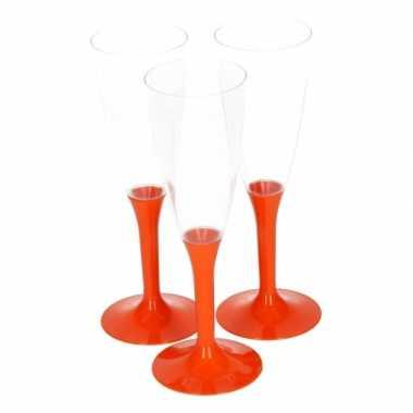 Oranje drankglazen 10 stuks