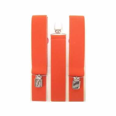 Oranje feest bretels