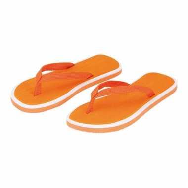 Oranje flip flop slippers voor heren