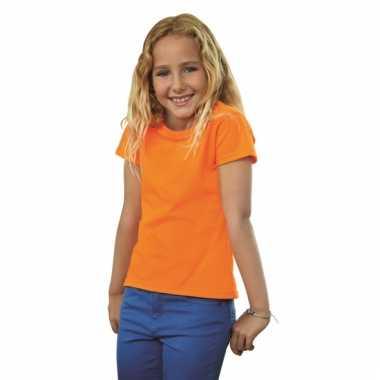 Oranje fotl shirt voor meiden