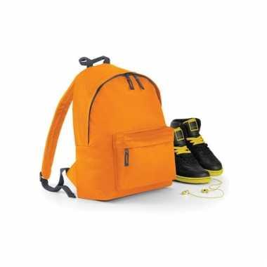 Oranje gymtas rugzak voor kinderen