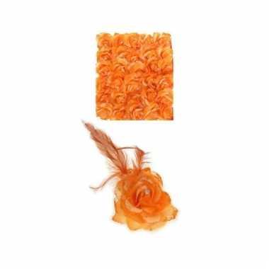 Oranje haarbloem met elastiek