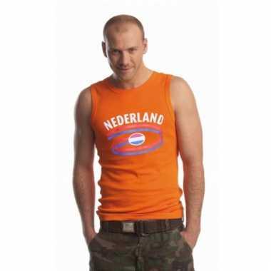 Oranje heren shirtje met nederlandse print