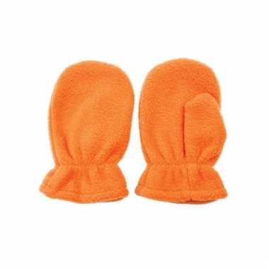 Oranje kinderhandschoenen