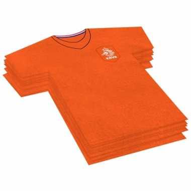 Oranje knvb voetbal servetten
