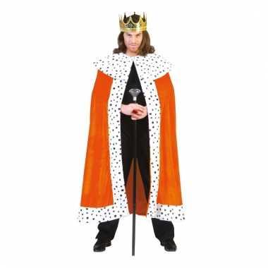 Oranje koningscape voor volwassenen