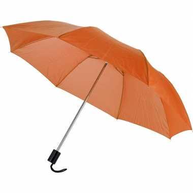 Oranje mini paraplu 35 cm