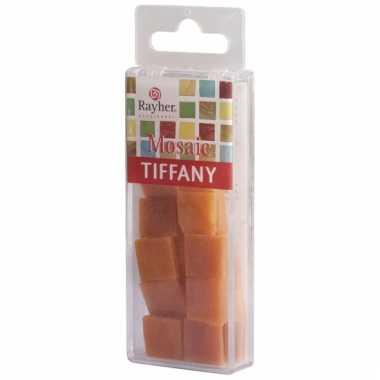 Oranje mozaiek steentjes van 1,5 cm