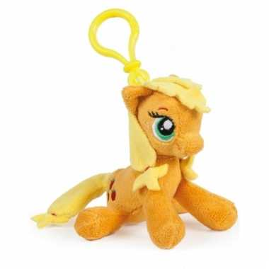 Oranje my little pony sleutelhangertje 12 cm
