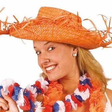 Oranje nederlandse strohoed