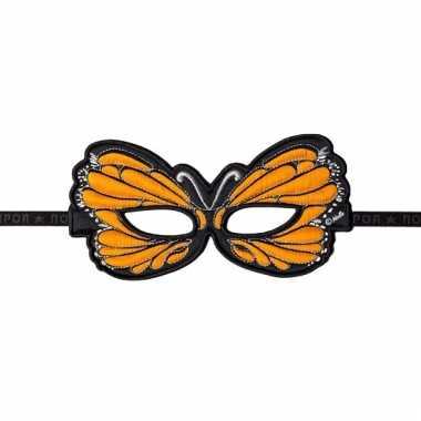 Oranje oogmasker van een vlinder