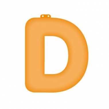 Oranje opblaasbare letter d