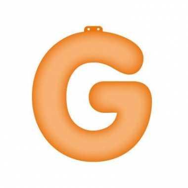 Oranje opblaasbare letter g