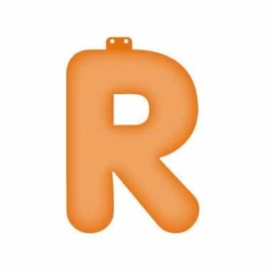 Oranje opblaasbare letter r
