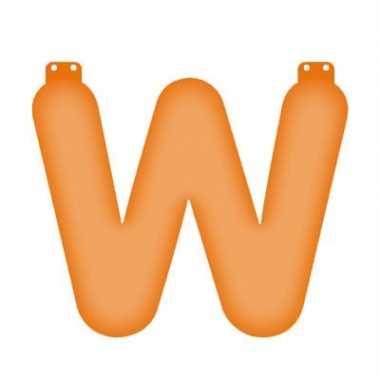 Oranje opblaasbare letter w