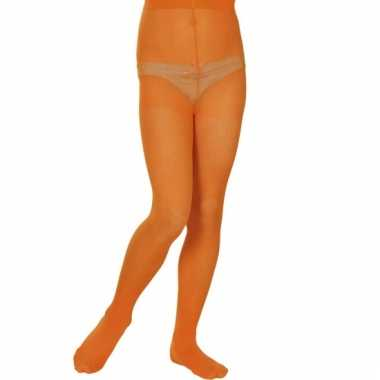 Oranje panty voor meisjes 40 denier
