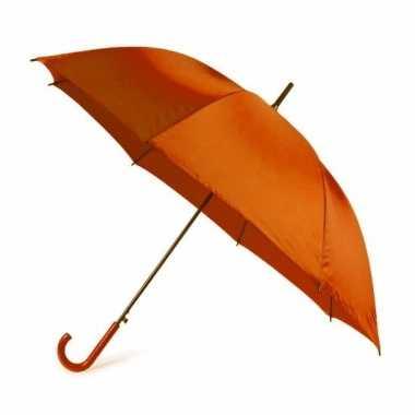 Oranje paraplu 107 cm polyester/kunststof