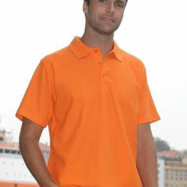 Oranje poloshirt volwassenen