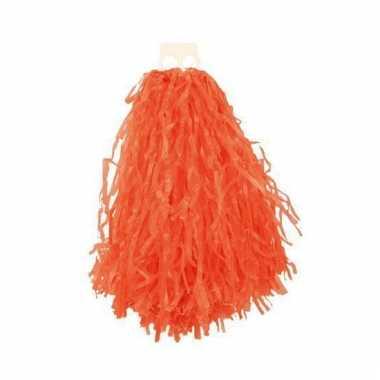Oranje pompoms 28 cm