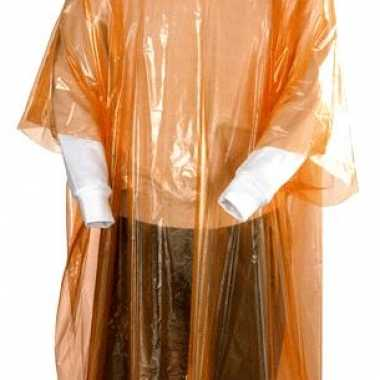 Oranje regen ponchos