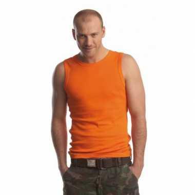 Oranje shirt voor heren